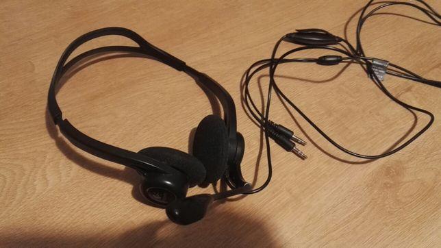 Sluchawki Logitech do komputera z mocrofonem