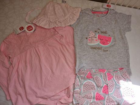 Шорты и футболка, вещи на девочку размера 92
