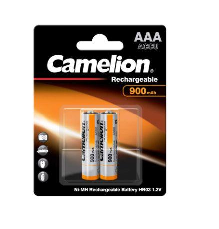 Pilhas recarregáveis 2x AAA 900mAh 1.2v Camelion novas em caixa