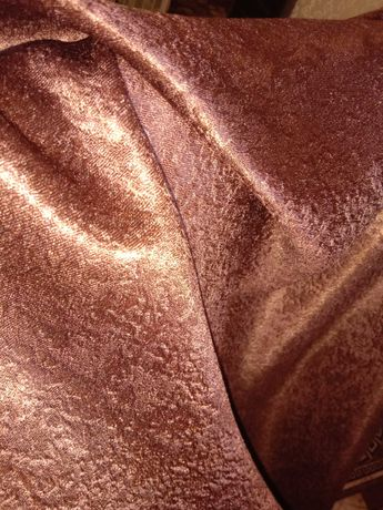 Венге, однотонная ткань блекаут, мраморный рисунок и атласная изнанка