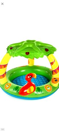 Basenik do kąpieli dla dziecka, dżungla, biedronka, palmy