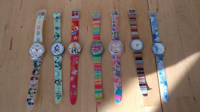 Conjunto de 7 relógios Swatch