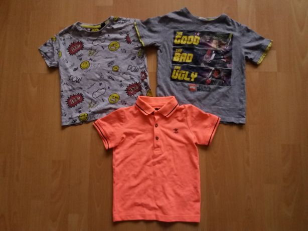 Next Primark koszulki rozm.98/104 3 szt.