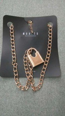 Naszyjnik, złoty łańcuch Mohito