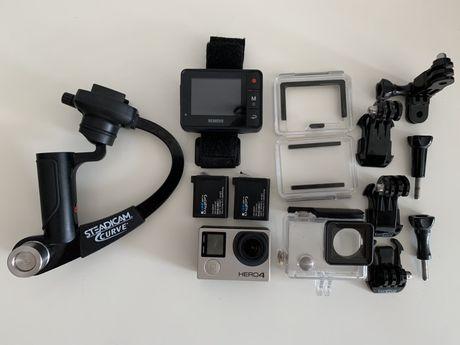 GoPro hero 4 black ekran removu r1 stabilizator steadicam curve