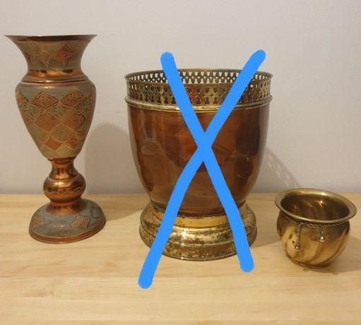 Vaso de cobre e latão Jarra de cobre e vaso