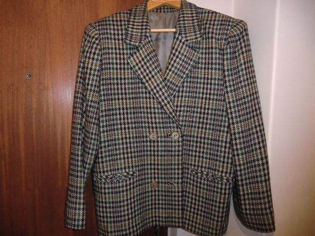 Fato saia casaco de xadez, feito na costureira á medida, tamanho médio