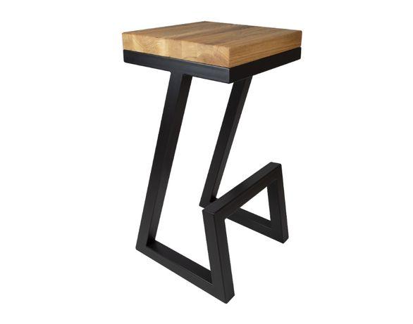 Krzesło barowe HOKER LOFT Industrialny