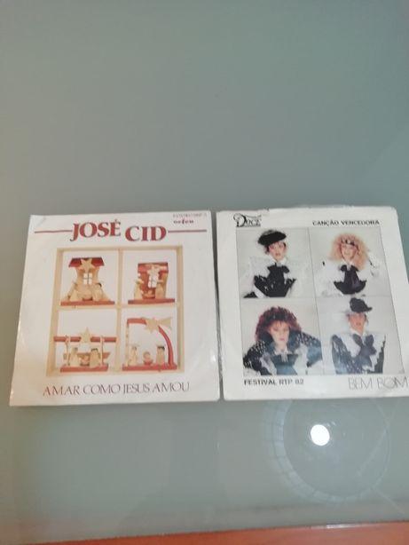 2 discos Vinil Musica Portuguesa Como novos! Doce José Cid