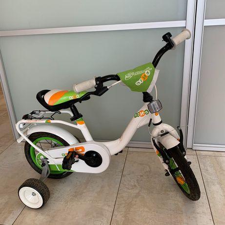 Детский велосипед Scool niXe, для 2-4 лет, Германия, белый / зеленый