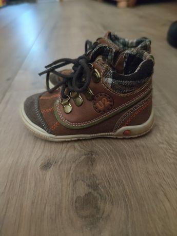 Skórzane buciki, buty cool club, przejściowe, jesienne, r. 22