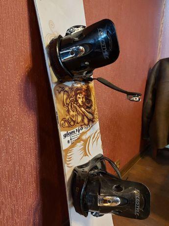 Deska snowboardowa Head + wiązania Burton