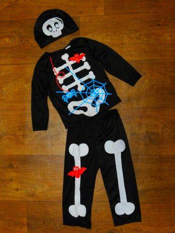 карнавальный костюм скелет Хэллоуин Halloween 12-18 мес 86 размер маль