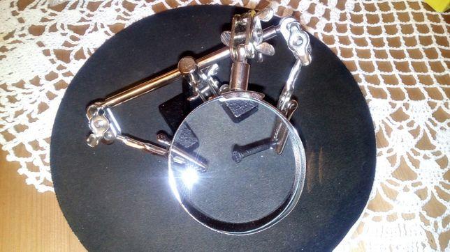 Trzecia ręka elektronika pomoc lutowania lupa uchwyt szczypce trzymak
