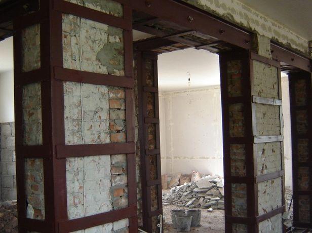 Усиление проёма в несущей стене. Демонтаж и усиление стен. Перемычки
