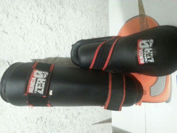 Ochraniacze na stopy piszczel full kick taekwondo mma sporty walki