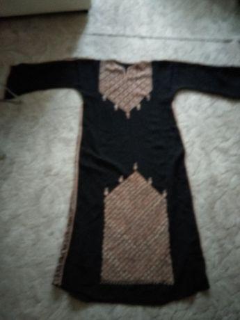 Orientalna sukienka arabska brązowo-czarna