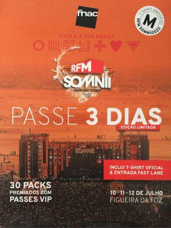 Passe 3 dias-  Bilhete RFM SOMNII