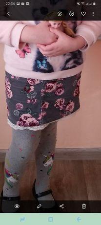 Юбка НМ на 6 - 7 лет с натяжкой на поясе