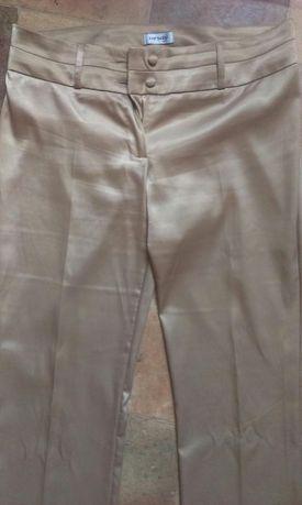Spodnie koloru złotego wizytowe ORSAY 40 L
