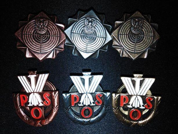 Odznaka POS i strzelecka wszystkie klasy