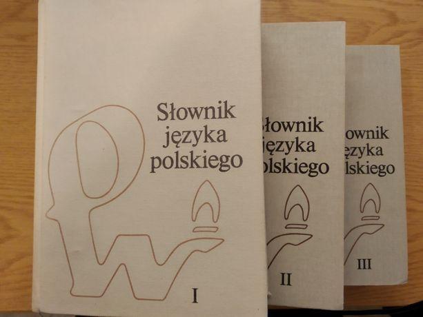 Słownik języka polskiego PWN tomy 1-3