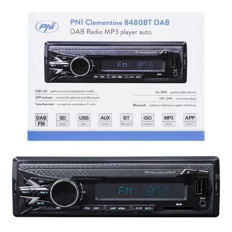 Radio Samochodowe Pni 8480BT DAB 12/24V Bluetooth 4x45w 1 DIN, z SD, U