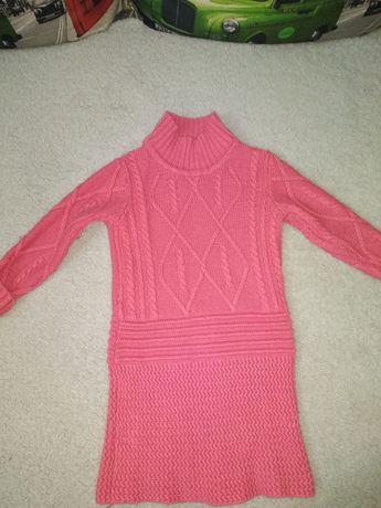 Теплое платье 104р