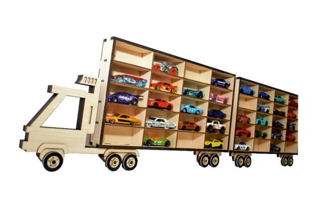 Półka na autka resoraki Hot Wheels - ciężarówka do pokoju dziecka