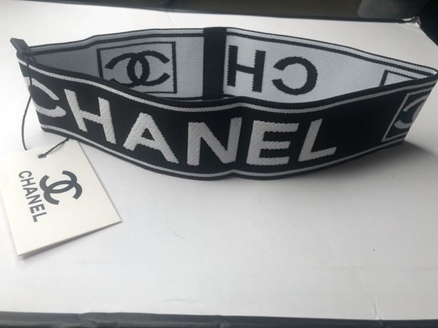 Повязка на голову спортивная Шанель Chanel
