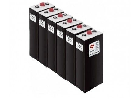 baterias solar 2 volts 750 ah (2v x 6 elementos = 12 v)