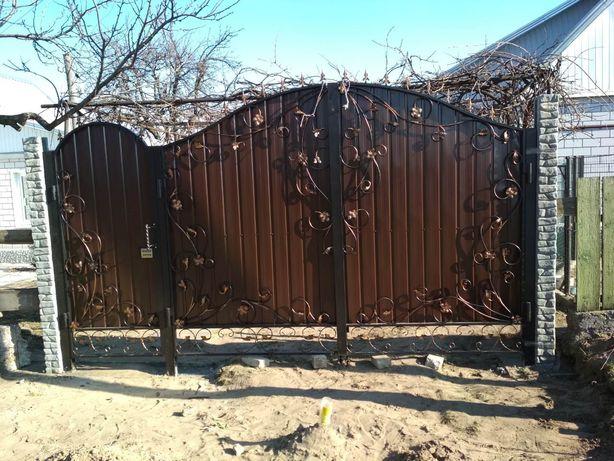 Ворота, въездные,  откатные и распашные