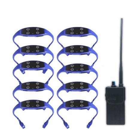 Przewodnictwo kostne słuchawki, walkie-talkie do treningu 1+10