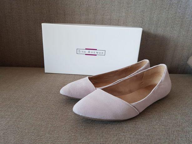Nowe buty baleriny skórzane 5th Avenue Deichmann 39