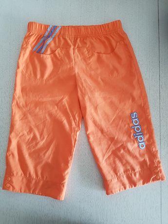 Spodenki krótkie Adidas pomarańczowe rozm. 140
