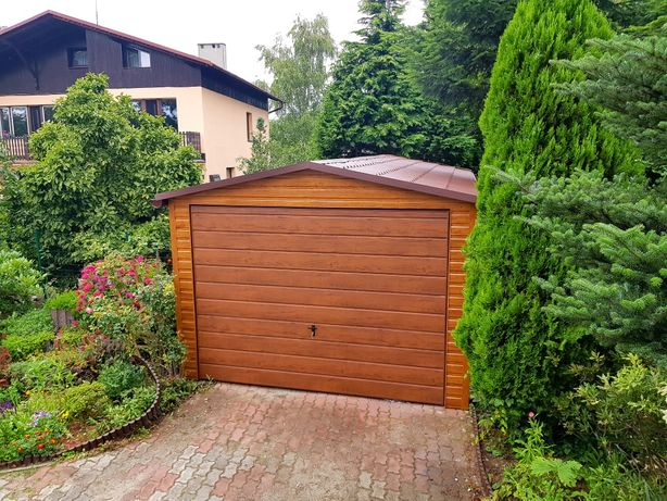 Garaże blaszane DREWNOPODOBNE na wymiar (profil,blaszaki,hale,wiaty)