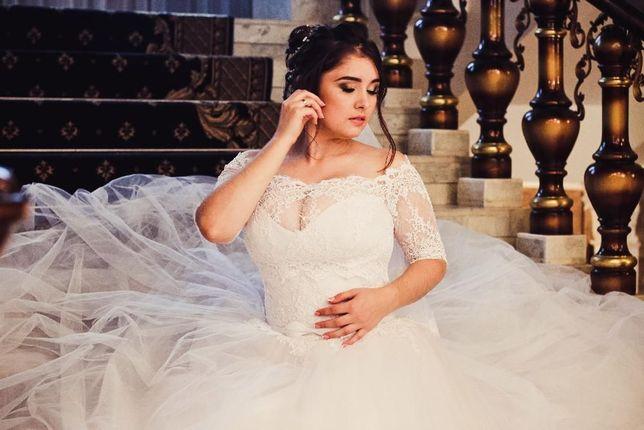 Весільна сукня БАТАЛ свадебное платье Maxima