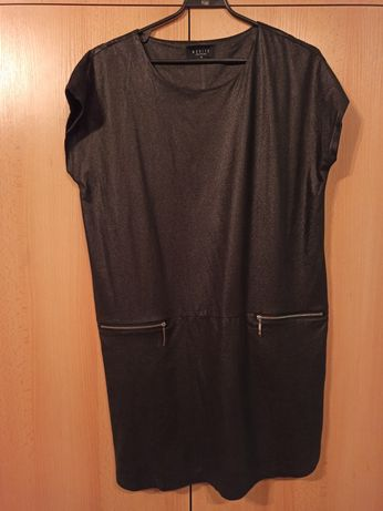 Sukienka / tunika elegancka czarna z połyskiem Mohito. r. M