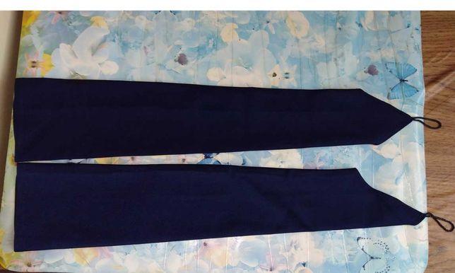 Перчатки вечерние длинные темно=синие