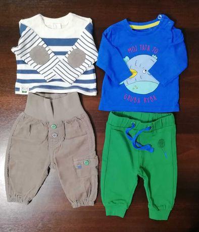 Komplety niemowlęce: bluzeczka + spodenki h&m, 5.10.15 rozm. 56