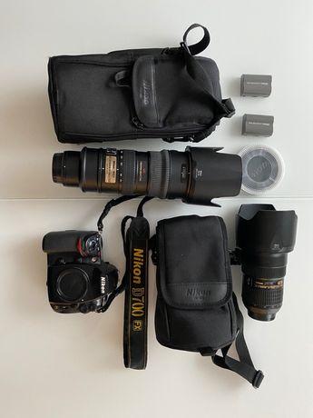 Zestaw Nikon D-700 + 2 obiektywy Nikkor 24-70 f 2.8, 70-200 mm f 2.8