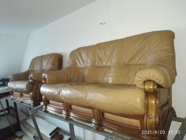 комплект шкіряних диванів 3+2
