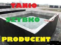Zbiornik betonowy na gnojowicę szambo szamba betonowe 2- 12m3 ścieki