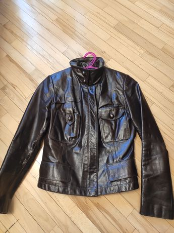 Кожаный пиджак куртка