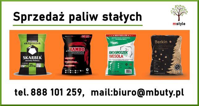 Ekogroszek, Skarbek Bobrek ,Wesoła,pelet węglowy Varmo, Medex premium