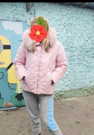 Куртка пуховик ,нежно розовая