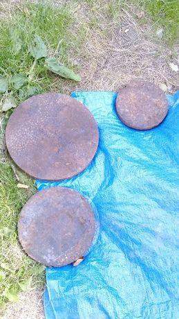 Bardzo ciężkie krążki stalowe - balast, śr.15-30 cm, waga 5-20 kg