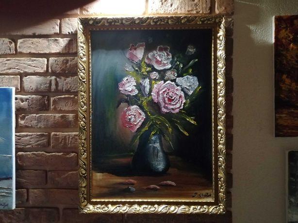 Obraz olejny na płótnie wym 70 /50 malarstwa T. Chołyka bez ramy