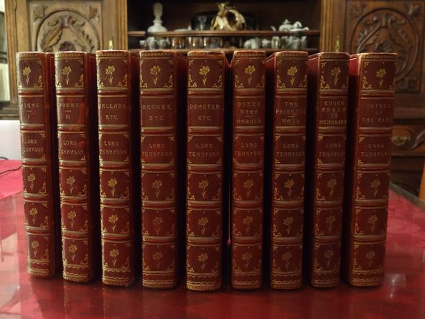 TENNYSON – 'The Works of Alfred Lord Tennyson' ∟ 9 Vols. | 1892