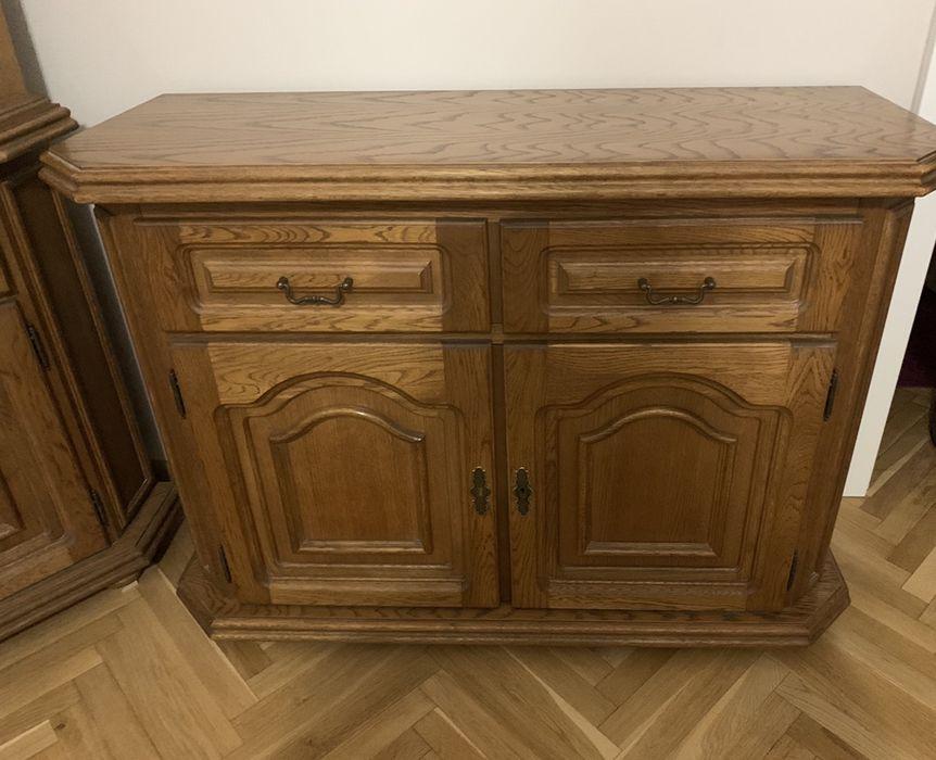 Meble dębowe drewniane komoda rtv regał konsola Poznań - image 1